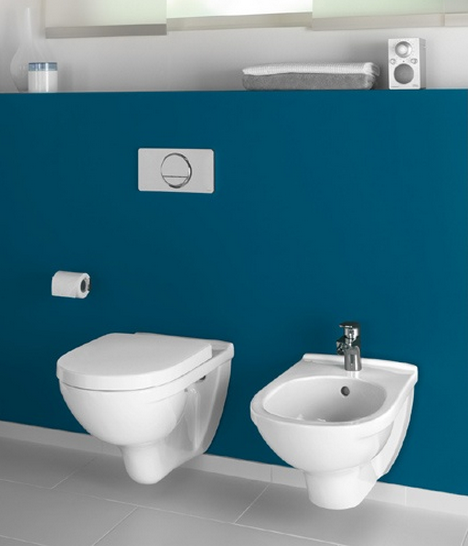 Villeroy and boch bathroom outlet uk - Villeroy Amp Boch O Novo Wall Mounted Compact Washdown Wc